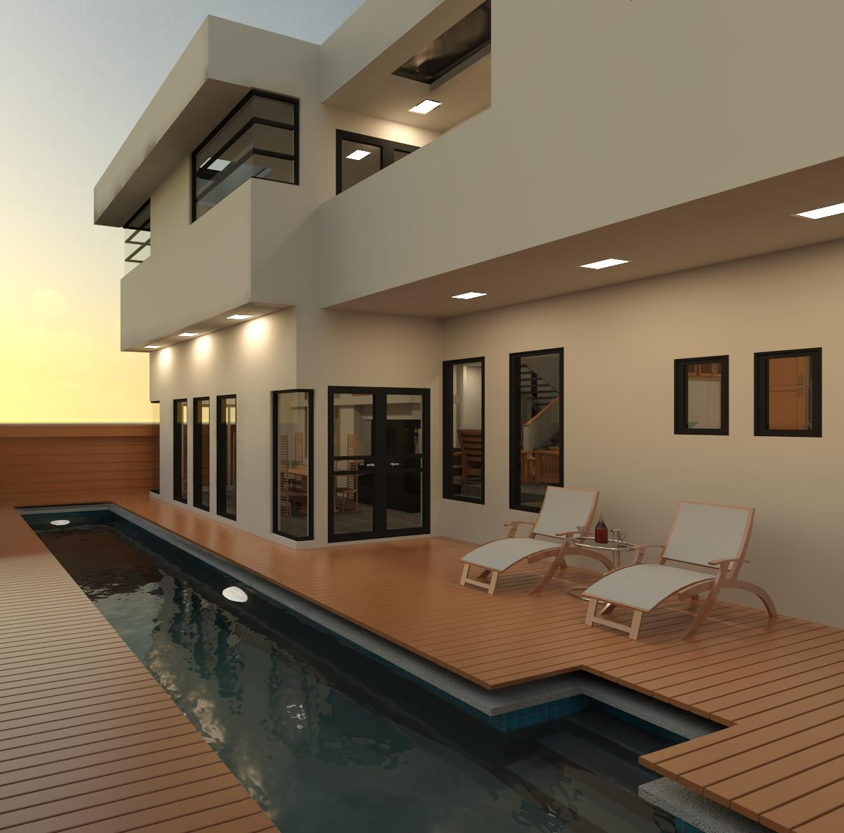 Ashelford residence renderings ashelford consulting for Revit architecture modern house design