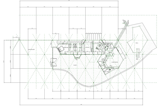 Chemosphere Floor Plan Floor Plan Of The Chemosphere House